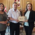 لقاء عمل مع شيخة مدينة تونس «سعاد عبد الرحيم» بخصوص منظومة أمد للخدمات الاجتماعية